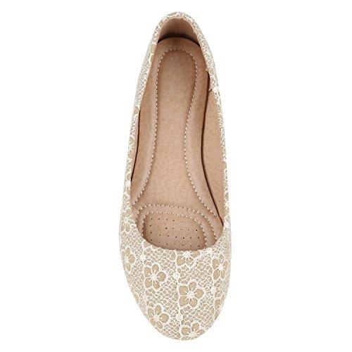 Castanho Óptica Cremosa Clássicas Sapatos Lazer Tamanhos Couro Flats De Em Claro Senhoras Bailarinas wqPPSxX6