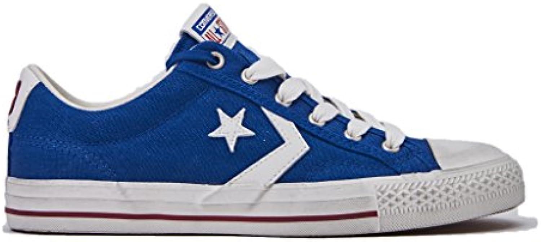 Converse Sneakers Uomo  Star Player 160924C/TRUEBLUE/EGRET/GARNET  Distressed Ox  in Tela Colore Blu  Nuova Collezione