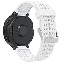 Pour Garmin Forerunner 220230235620630Bracelet de montre, Yustar souple en silicone de remplacement Band Bracelet Sangle de poignet pour Garmin Forerunner 220230235620630montre