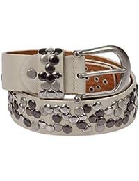 Kossberg 51182 - Cinturón de piel con tachuelas para mujer beige 100 cm