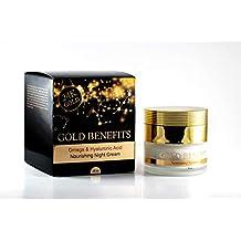 Crema de noche nutritiva con beneficios de oro, rica en minerales del Mar Muerto, algas y oro, da a la piel un aspecto brillante, vital y más juvenil. ayuda ...