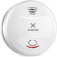 X-Sense Detector de Humos y Alarma de Incendios X-Sense SD10C con Batería para 10 Años de Vida y Sensor Fotoeléctrico