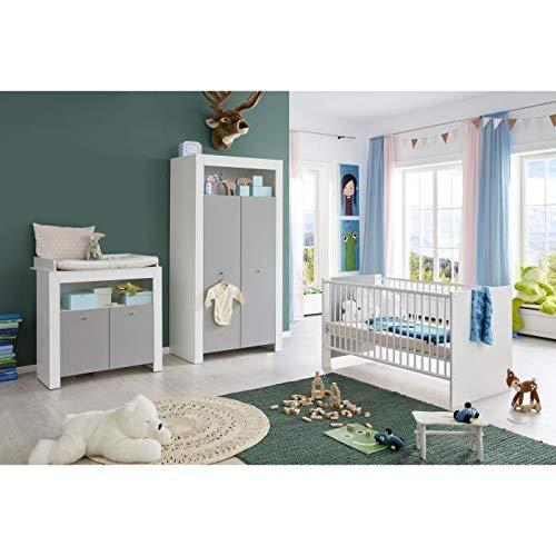 Trendteam Chambre bébé Wilson 3 Pieces : Armoire + lit +...