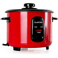 Klarstein Osaka olla arrocera con complemento de cocción al vapor (500 W, 1,5L , antiadherente, apagado automático con función de mantenimiento en calor, ...