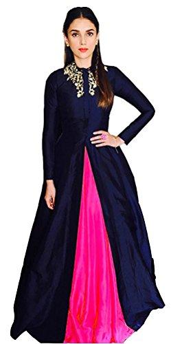 vaidehi creation Cotton Silk Lehenga Choli (lyril Pink_Pink_Free Size )
