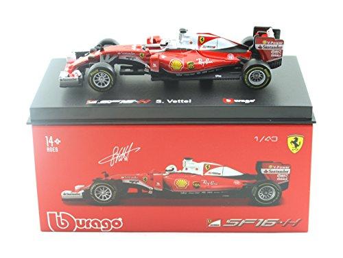 Preisvergleich Produktbild Bburago 18-36804 - Ferrari SF16-H - #5 Sebastian Vettel - mit Fahrerfigur 1:43