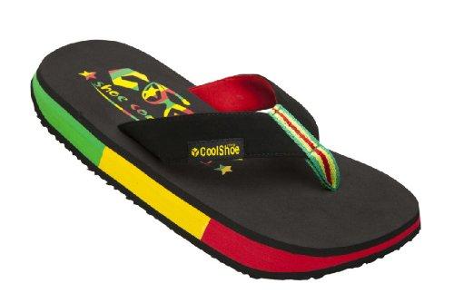 Cool Shoe Original Flag Zion-Flip Flop dita dei piedi Misura 41/42nero/multicolore