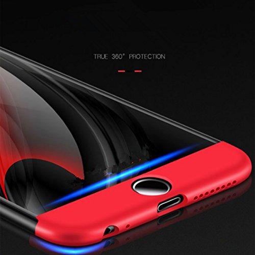 iPhone 6 Plus Hülle, JEPER iPhone 6 Plus Schutzhülle 3 in 1 Ultra Dünner Harte Case 360 Grad Ganzkörper Schützend Anti-Kratzer Anti-dropping Schrubben PC Schutzhülle für Apple IPhone 6 Plus black+red
