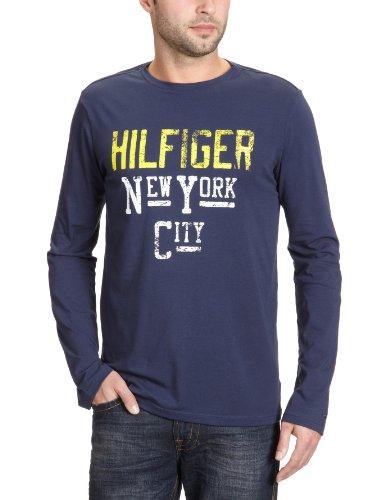 Tommy Hilfiger Herren Schlafshirt Terrence L/s T-shirt/2S87901488 Blau (409 PEACOAT)