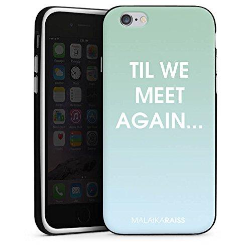 Apple iPhone X Silikon Hülle Case Schutzhülle Spruch Farbverlauf Mint Silikon Case schwarz / weiß