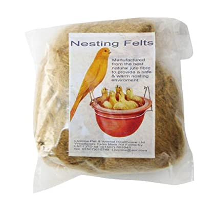 Liverine Canary Nest Felts Bird Nesting Pack Of 10 1