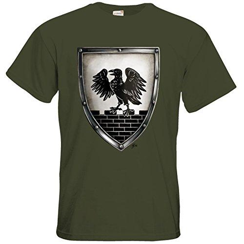 getshirts - Das Schwarze Auge - T-Shirt - Die Siebenwindküste - Wappen - Winhall Khaki