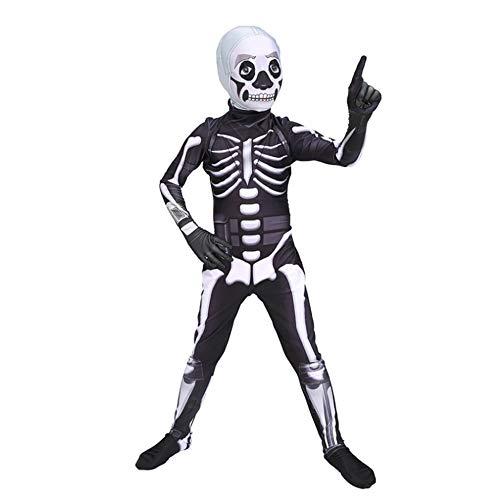 Kind Menschliches Skelett Kostüm Halloween Karneval Kostümball Party Cosplay Kostüm,Child-L ()