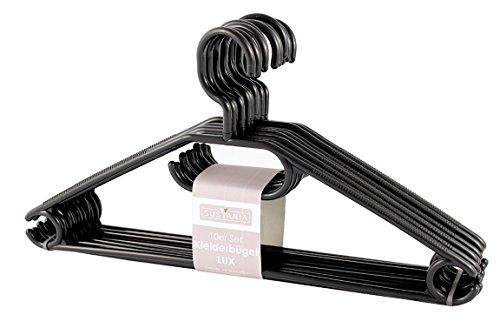 Kleiderbgel-Kunststoff-Schwarz-mit-Antirutschrillen-Made-in-Germany