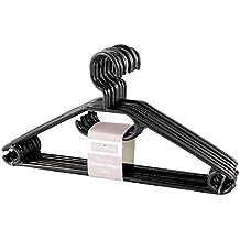 KLEIDERBÜGEL KleBü 20 Stück von 4smile.shop – Made in Germany | WÄSCHE-BÜGEL ANZUG-BÜGEL aus robustem Kunststoff | Farbe schwarz