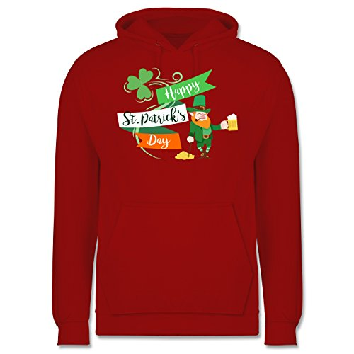 St. Patricks Day - Happy St. Patricks Day Kobold - Herren Hoodie Rot