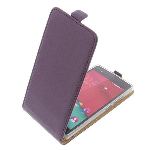 Custodia per Wiko Pulp 4G modello tascabile stile Flip lilla
