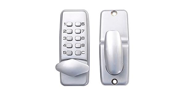 Digitales mechanisches Passwort-T/ürschloss-Kit Tastaturen f/ür Innen- und Au/ßent/üren 1-11-stelliges wasserdichtes Eingangst/ürschloss doppelseitiges Code-Schloss mit Schl/üsseln