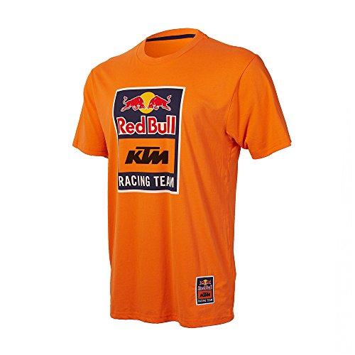 KTM Red Bull Racing Team Logo Tee Herren T-Shirt Orange MotoGp (orange, XL) - Red Bull Logo