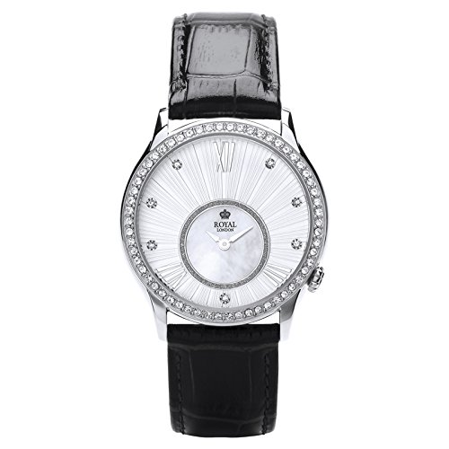 Royal London Ladies Fashion Damen-reloj de pulsera analógico con correa de cuero 21284-02