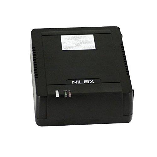 Nilox 17NXGCSI15001 Gruppo di Continuità UPS da 1100VA / 550W, 2 Uscite, Nero