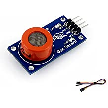 CQRobot MQ-3 Gas Sensor, Sensitive for Alcohol, Ethanol, Output Voltage Boosts Along With the Concentration of the Measured Gases Increases, Adjustable Sensitivity.