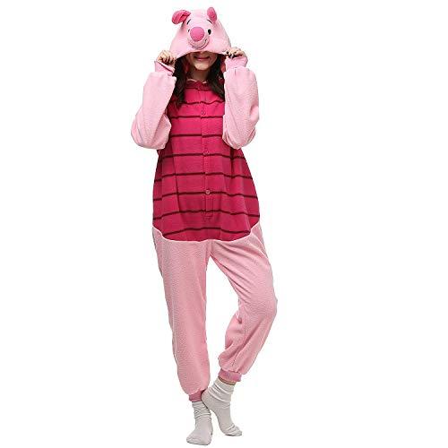 AGOLOD Unisex Kigurumi Pyjamas Tier Cartoon Halloween Cosplay Erwachsene (Für Halloween-cartoons Erwachsene)