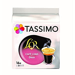 Tassimo Café Dosettes - 80 boissons L'Or Long Doux (lot de 5 x 16 boissons)