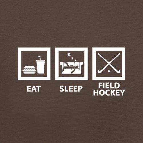 Eat Sleep Field Hockey - Herren T-Shirt - 13 Farben Schokobraun