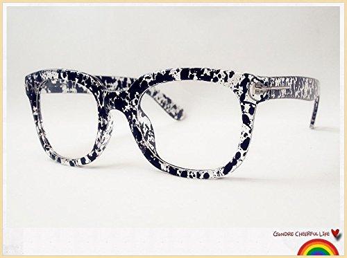 Pretty Smart Glasses Schwarz & Klar übergroßen Nerd Geek Retro Vintage Brille Wayfarer 80er