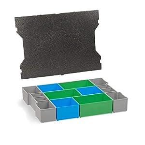 Aufbewahrung Schrauben | L-BOXX 102 G4 Insetboxen-Set | CD3 Einsätze mit Deckenpolster | Sortierboxen für Kleinteile | Aufbewahrungsbox Schrauben
