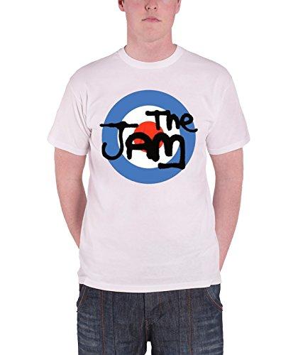 The Jam Herren Classic Logo T-Shirt XX-Large Weiß (Band Logo Altes Musik Shirt)