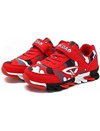 aemember Boys 'zapatos ETTE primavera caída comodidad zapatos de Athletic zapatos de senderismo Magic cinta para Casual Royal azul negro/verde/rojo/azul oscuro, US5.5 / EU37 / UK4.5 Big Kids, Rojo