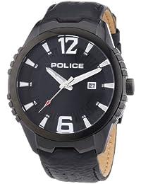 Police - P13592JSB-02 - Montre Homme - Quartz Analogique - Bracelet Cuir Noir