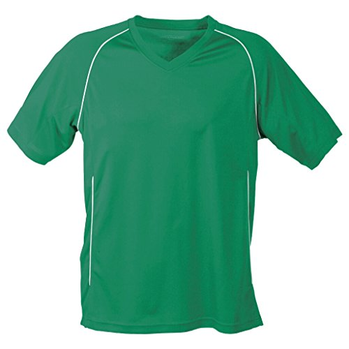 JAMES & NICHOLSON Funktionelles Teamshirt Green/White