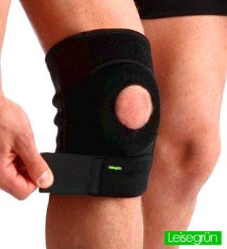 sport-kniebandage-leisegrunr-schutzt-meniskus-bander-und-patella-bei-sportlicher-belastung