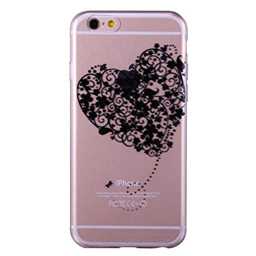 iPhone 6/6S Plus 5.5 Case TPU Gomma Morbida Trasparente Silicone Ultra Sottile Slim Disegno Personalizzato Cartoni Animati (Giraffa) amare