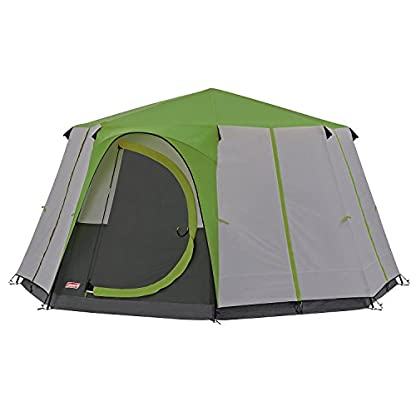 Coleman Tent Octagon, 6 Man Festival Dome Tent, 6 Person Family Camping Tent with 360° Panoramic View, Stable Steel Pole Construction, Sewn-in Groundsheet, 100 Percent Waterproof 2