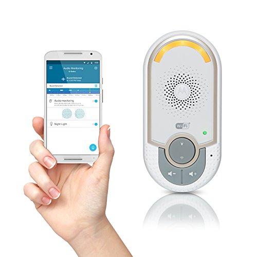 Motorola MBP 162 Connect, Mit Nachtlicht und Zwei Wege Kommunikation, Wireless Wi-Fi Babyfon, Zür Audio-Überwachung, weiß