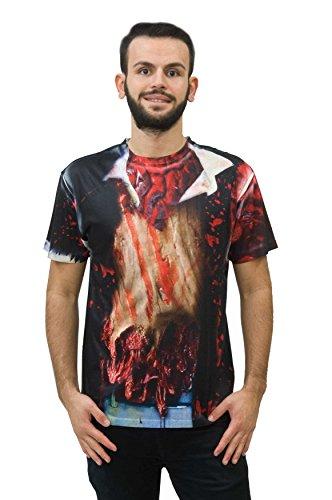 Shirt Zombie - Kurzarm - Gr. M (Muskel T Shirt Kostüme)