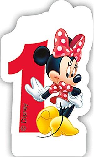 * Minnie Maus * für Kindergeburtstag // Kinder Geburtstag Party Numeral Birthday Candle Kuchen Deko Motto Disney Mickey Mouse EIN Jahr ()