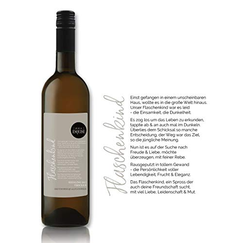 Flaschenkind | Riesling 2017 | trocken | 0,75 l | Qba | Weisswein | Deutschland | besonderer Winzerwein | Weine mit individuellem Etikett