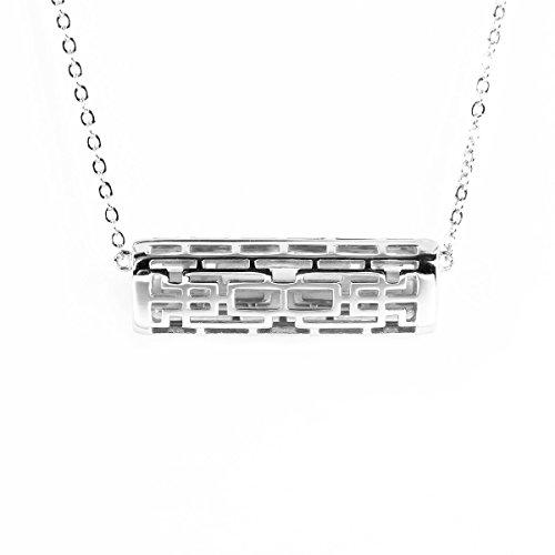 NEO+ Edelstahl Halskette Anhänger für Fitbit Flex 2 (HORIZONTAL Silber)