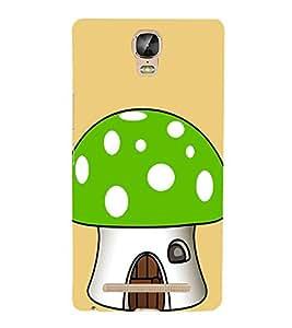 Green Mushroom 3D Hard Polycarbonate Designer Back Case Cover for Gionee Marathon M5 Plus