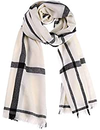 HITSAN INCORPORATION Winter Scarf Women Cashmere Wool Scarves Plaid Soft  Scarf for Women Wool Pashmina Winter Warm Shawls Female… 8d3ccf21427