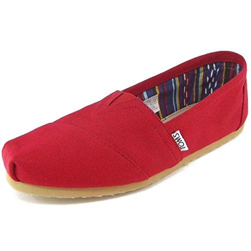 toms-canvas-classic-alpargata-chaussons-bas-femme-rouge-red-40-eu