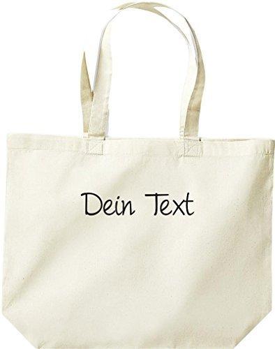 shirtstown grande borsa della spesa, Shopper con testo a scelta DOTATO Naturale