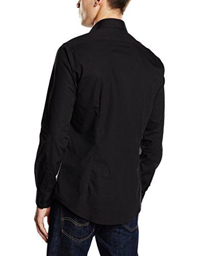 Calvin Klein Bari - Chemise habillée - Taille ajustée - Col classique - Manches longues - Homme Noir (Black)