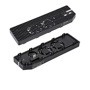 YockTec Xbox One Kühler Cooler Cooling Fan Stand Ständer Kühlstation mit 3 x Lüfter Design und 2 X USB Ports Perfekte Wärmeableitung für Xbox One Konsole