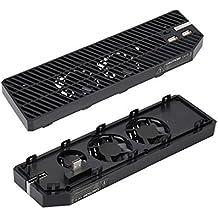 YockTec Xbox One Cooler Enfriamiento del Ventilador Estación de Enfriamiento con 3 Ventiladores de Enfriamiento Diseño y 2 X Puertos USB Disipación de Calor Perfecta para Xbox One Consola